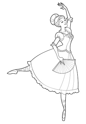 I was feeling down, so I made a Barbie Princess Genevieve coloring page
