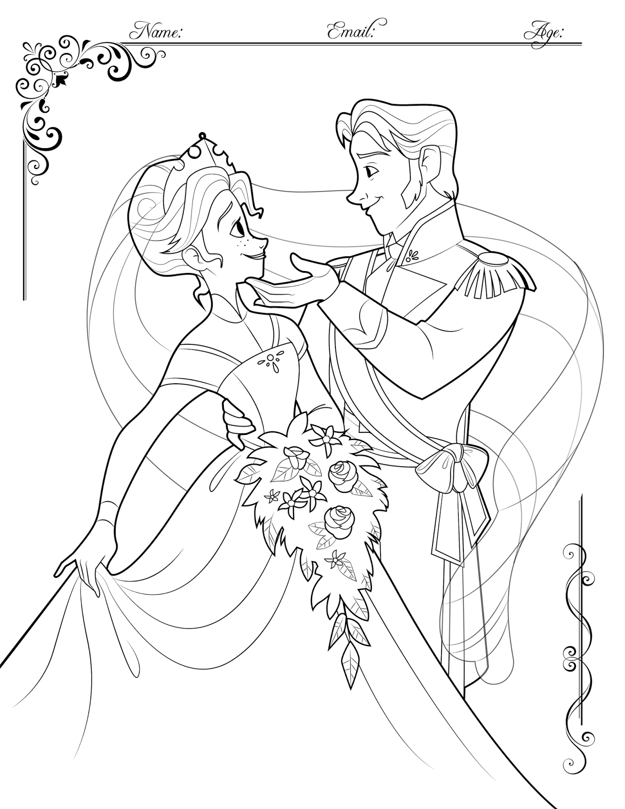 FROZEN Coloring Contest